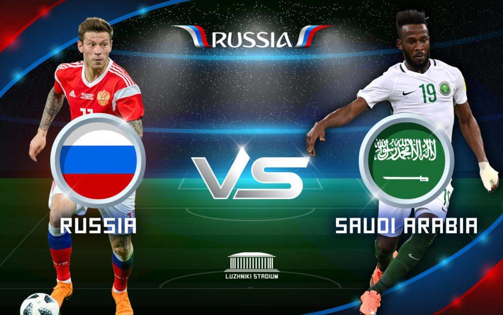 เจ้าภาพเฮลั่น ประเดิมถล่ม ซาอุดิอาระเบีย 5-0 เปิดฉากฟุตบอลโลก 2018 ได้สวยงาม